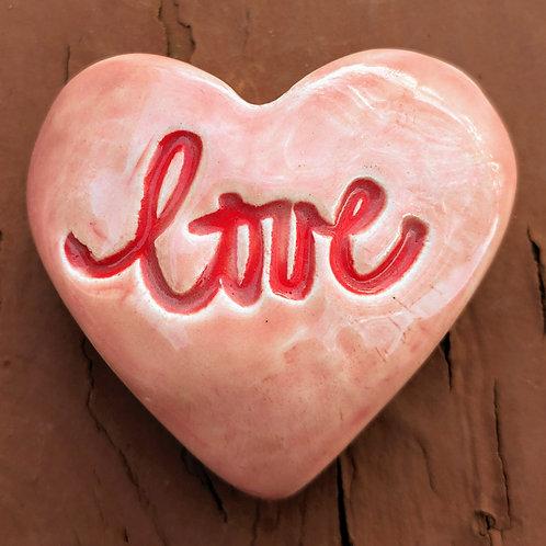 LOVE Heart Stone - Petal Pink