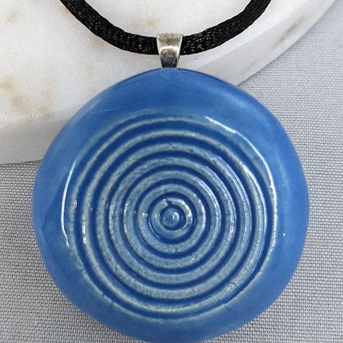 CIRCLES Pendant/Necklace - Bluebonnet
