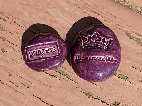 IF THE CROWN FITS + PRINCESS Pocket Stones - Purple
