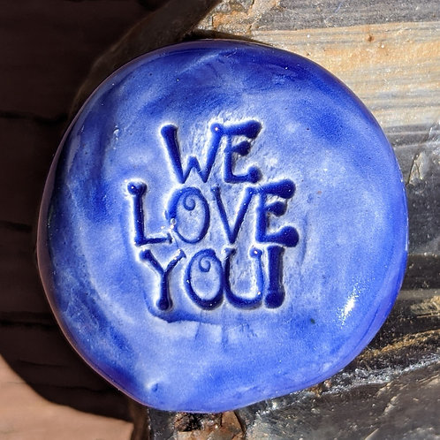 WE LOVE YOU Pocket Stone - Midnight Blue