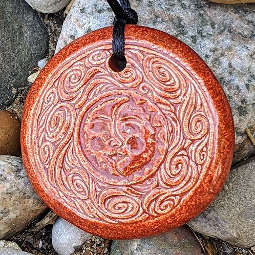 SUN & MOON Necklace - Burnt Orange