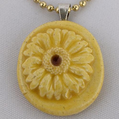 SUNFLOWER Pendant / Necklace - Yellow