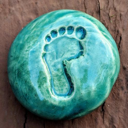 TINY FOOT Pocket Stone - Aquamarine