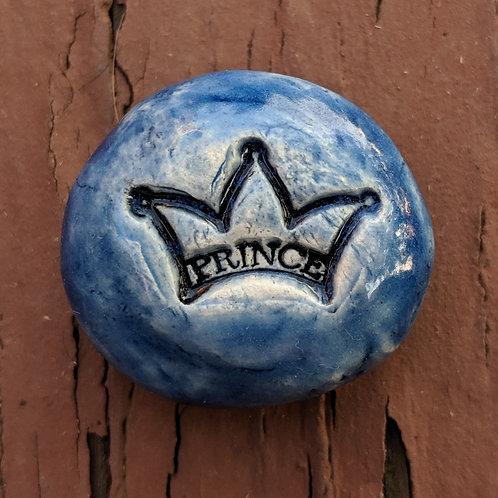 TINY PRINCE CROWN Pocket Stone - Sapphire Blue