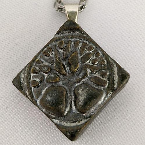 TREE OF LIFE Pendant - Metallic Patina