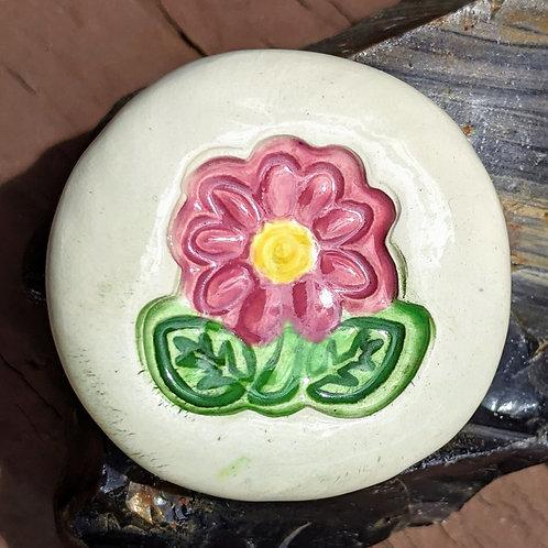 DAISY Pocket Stone - Hand-Painted