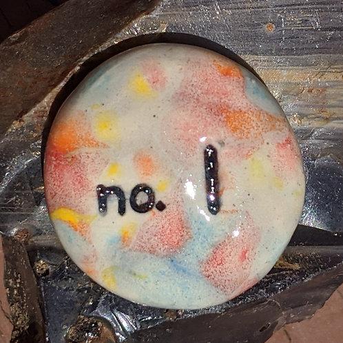 NUMBER ONE (no. 1) Pocket Stone - Kaleidoscope