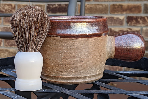 STONEWARE SHAVING BOWL by TC Pottery Studio - Beetlejuice