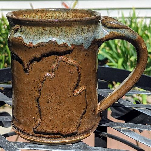 MICHIGAN MUG by TC Pottery Studio - Tawny Brown