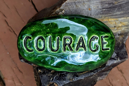 COURAGE Pocket Stone - Green