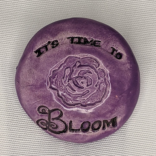 IT'S TIME TO BLOOM Pocket Stone - Amethyst Purple