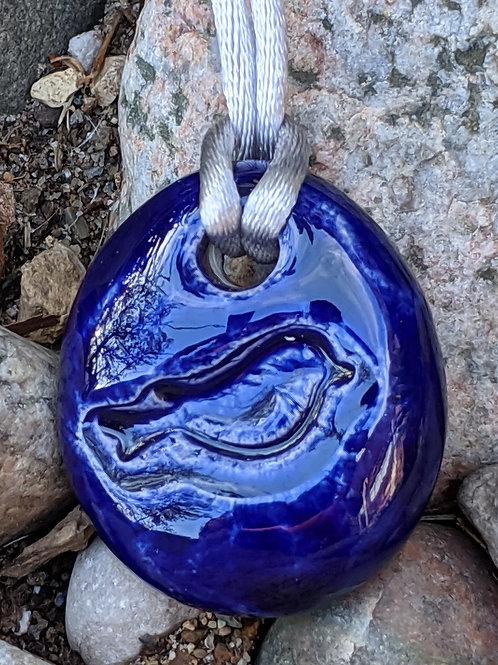 BIRD Necklace - Cobalt Blue