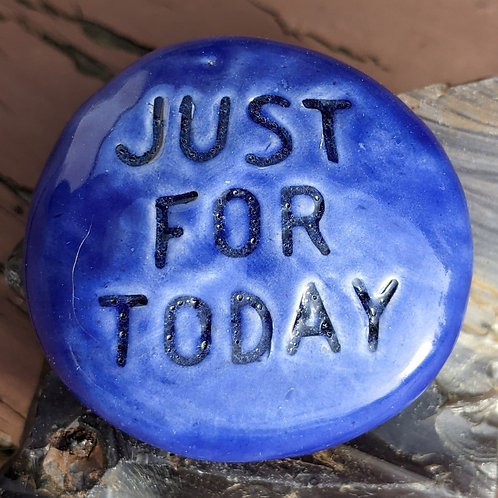 JUST FOR TODAY Pocket Stone - Vivid Blue