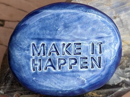 MAKE IT HAPPEN Pocket Stone - Sapphire Blue