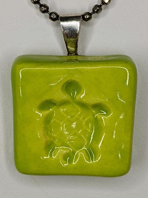 SEA TURTLE Pendant/Necklace - Granny Smith Green