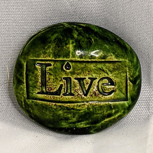 LIVE Pocket Stone - Green