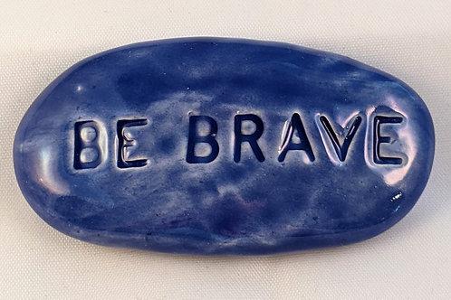 BE BRAVE Pocket Stone - Vivid Blue