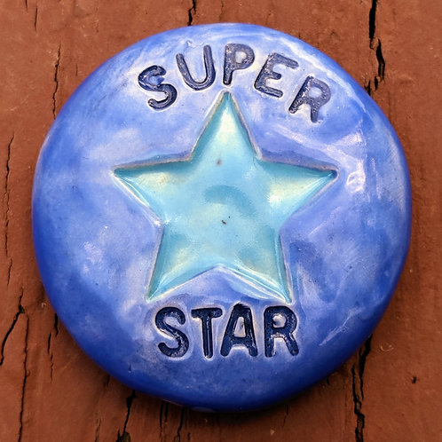 SUPER STAR Pocket Stone - Medium Blue
