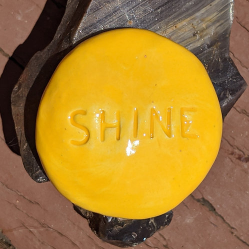 SHINE Pocket Stone - Sun Yellow