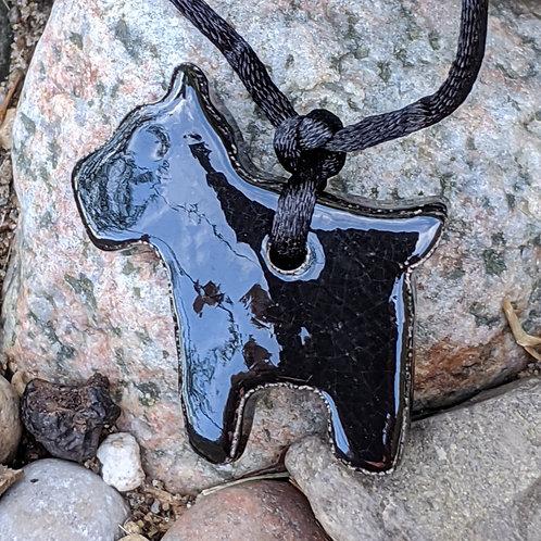 SCOTTISH TERRIER DOG Necklace - Black