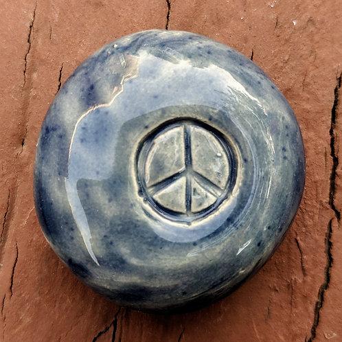 PEACE SIGN Pocket Stone - Denim Blue