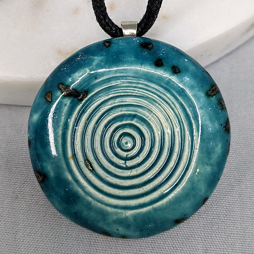 CIRCLES Pendant/Necklace - Speckled Turquoise