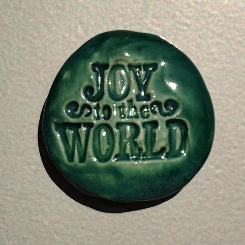 JOY TO THE WORLD Magnet - Aquamarine