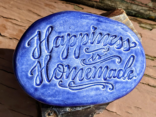 HAPPINESS IS HOMEMADE Pocket Stone - Vivid Blue