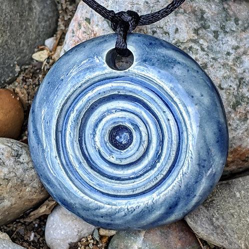 CIRCLES Necklace - Denim Blue
