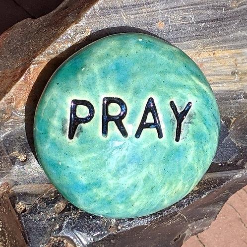 PRAY Pocket Stone - Aquamarine