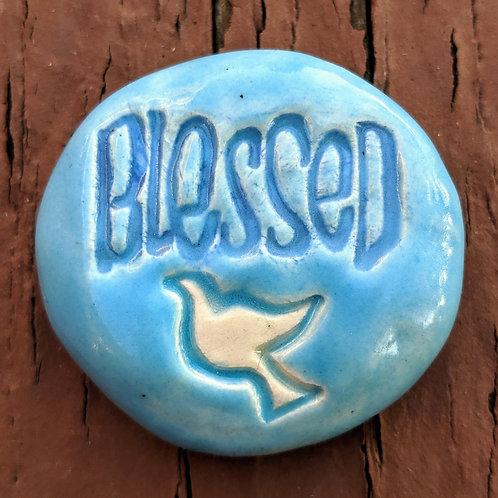 BLESSED Pocket Stone - Sky Blue