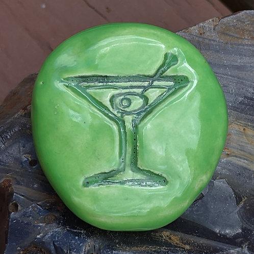 MARTINI COCKTAIL Pocket Stone - Granny Smith Green