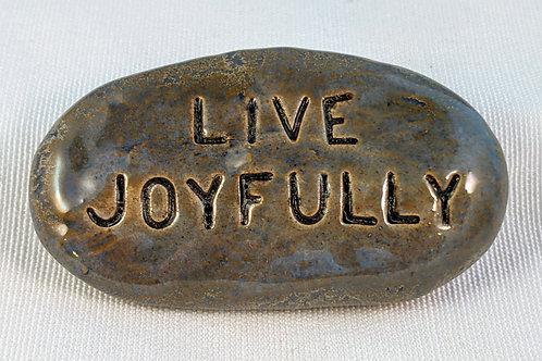 LIVE JOYFULLY Pocket Stone - Antique Blue