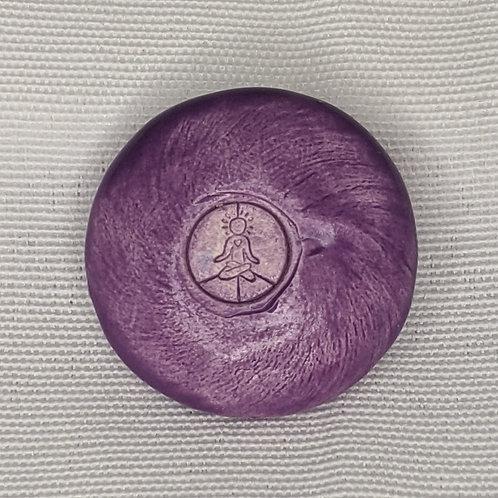 INNER ART PEACE LOGO Pocket Stone - Amethyst Purple