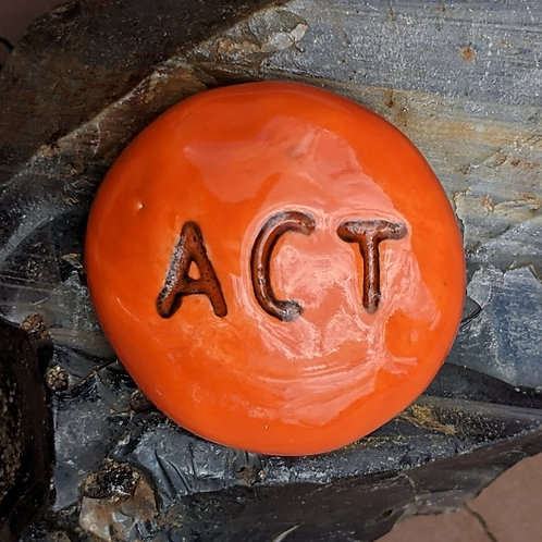 ACT Pocket Stone - Pumpkin Orange