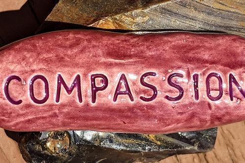COMPASSION Pocket Stone - TANZANITE