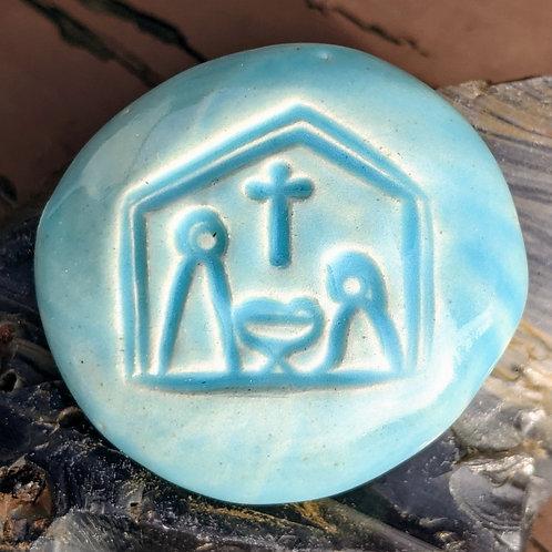 NATIVITY Pocket Stone - Bluebell