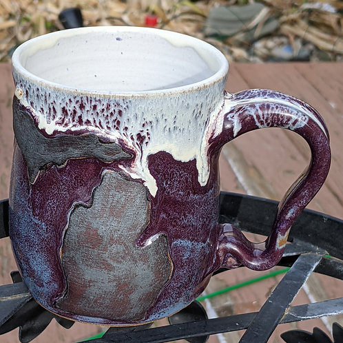 MICHIGAN MUG by TC Pottery Studio - Plum Crazy