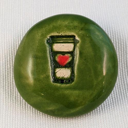 TO-GO COFFEE Pocket Stone - Emerald Green