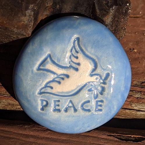 PEACE DOVE Pocket Stone - Bluebonnet