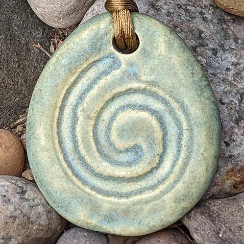 SPIRAL Necklace - Old Copper