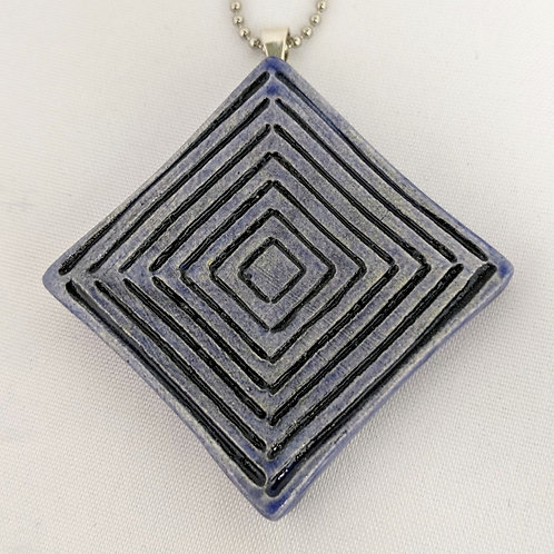 ABSTRACT Pendant ~ Exotic Blue