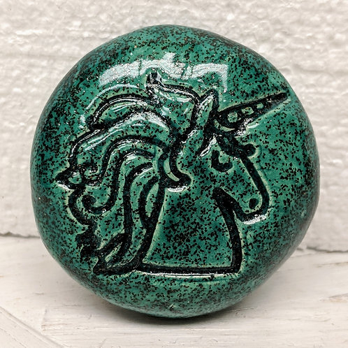 UNICORN Pocket Stone - Aquamarine Shimmer