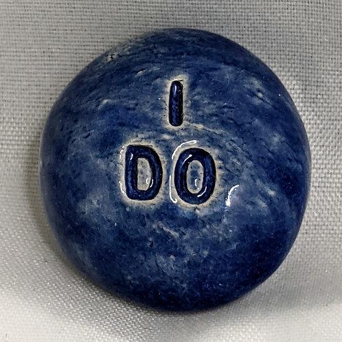 I DO Pocket Stone - Sapphire Blue