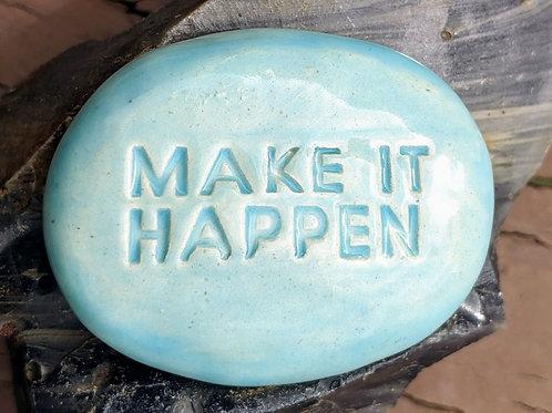 MAKE IT HAPPEN Pocket Stone - Bluebell