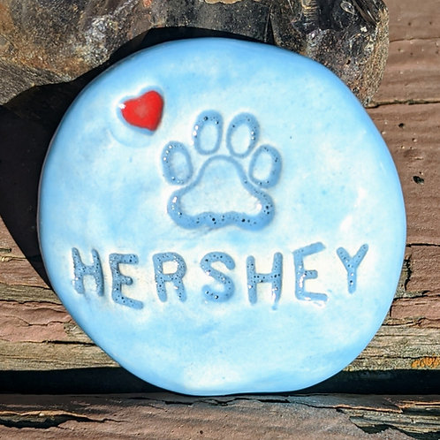 PAW PRINT & HEART Pocket Stone - Personalized