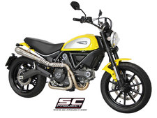 SC-Project Full System 2-1, with Conical Muffler, high position, brushed stainless steel