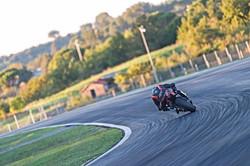 Dillon Telford in Italy, at Vallelunga circuit on his own 2017 Aprilia RSV4 RFW
