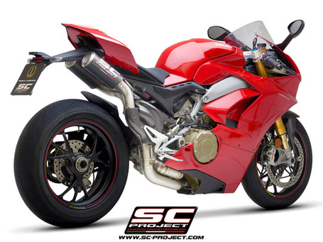SC-Project Semi-Complete 2-1-2 Titanium System with Double CR-T M2 Carbon Fiber Mufflers