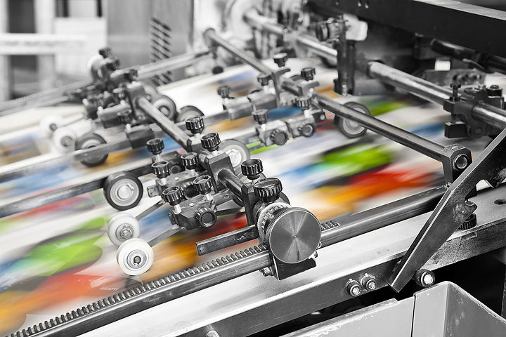 Blackmore printers select the right equipment for each print job. From small to large quantities, packaging print, fast turnaround print, colour technology, a range of materials, print finishes, cutting for short-run print projects to antimicrobial print.